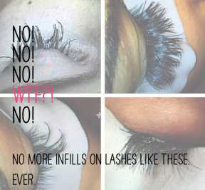Why we only infill very high quality eyelash extensions