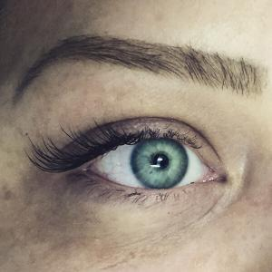 Half Set Eyelash Extension Photo