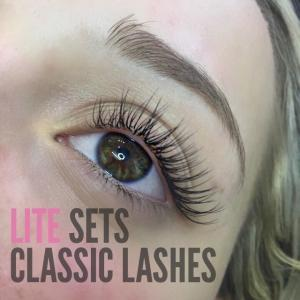Eyelash Extension Photos Lite Set Classic Lashes