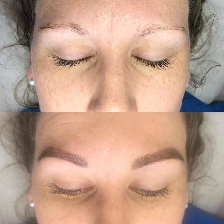 Before And After Henna Tattoo Eyebrows - Best Tattoo Ideas
